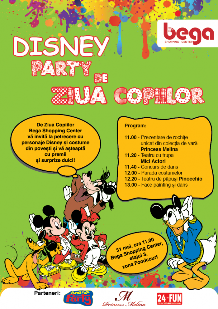 1 iunie 2014 Disney Party de Ziua Copiilor la Bega Shopping Center