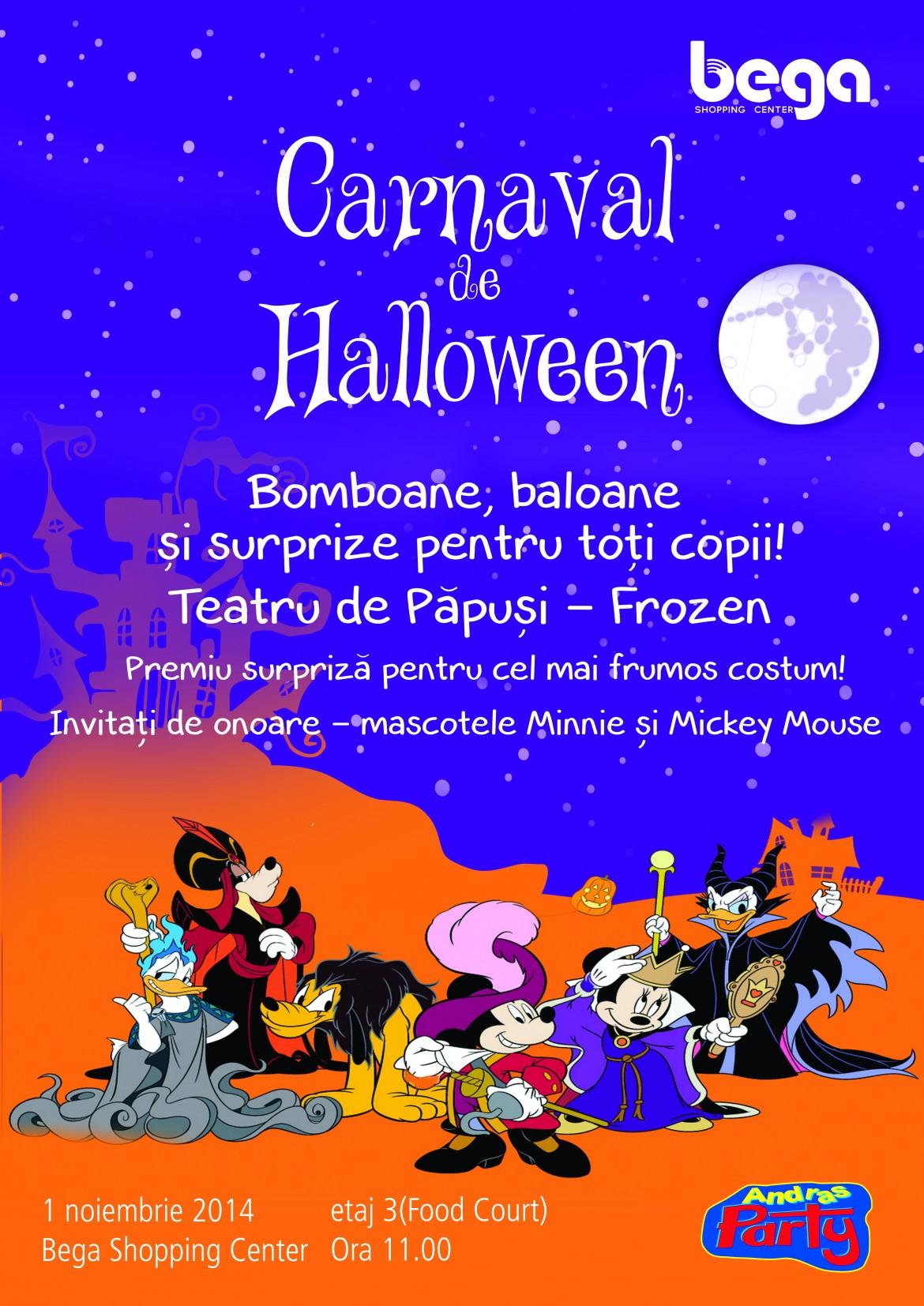 Carnaval de halloween la Bega Shopping Center