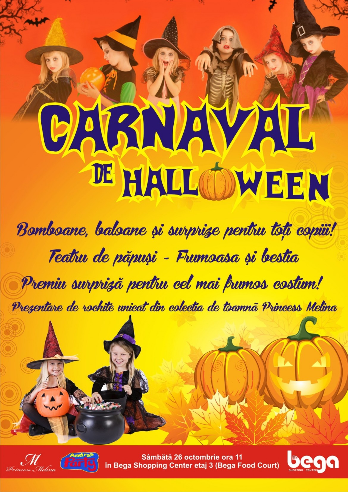 Carnaval de halloween la Bega Shopping Center 2013
