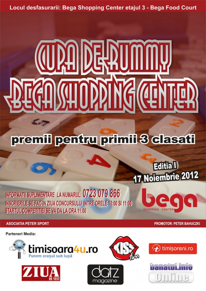 Cupa de Rummy Bega Shopping Center
