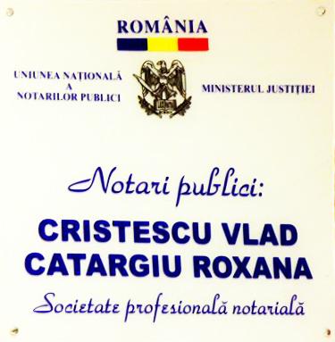 Notar public Vlad Cristescu - Catargiu Roxana