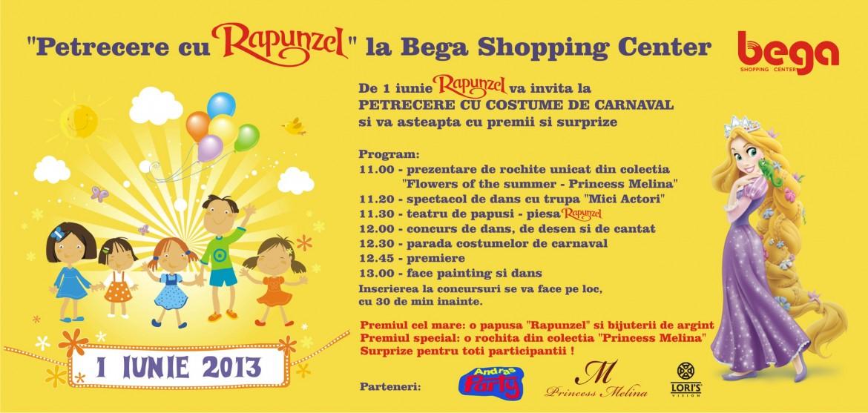 Petrecere cu Rapunzel la Bega Shopping Center